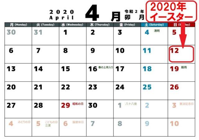 イースター,2020,いつ,何日,復活祭,グッズ,習慣