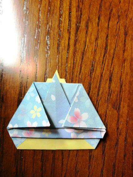 ひな祭りのお内裏様の折り紙
