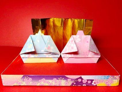 ひな祭りのお雛様とお内裏様の折り紙