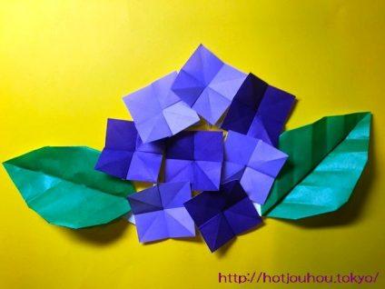 折り紙 花 あじさい