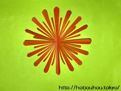 折り紙の花火の切り絵