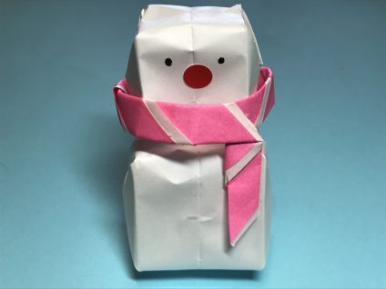 雪だるまの折り紙