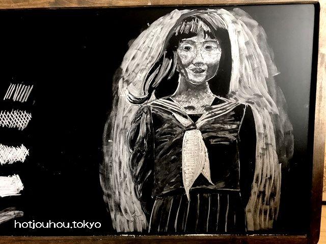 卒業記念の黒板アート