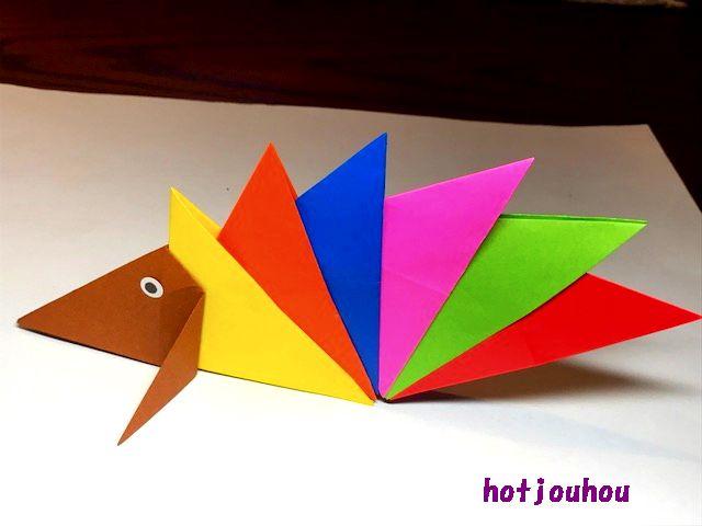 ハリネズミ 折り紙 【至高のおりがみ】今井雄大さんの「ハリネズミ」を、佐藤ローズに添えて。|まさにぃ|note