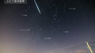 ふたご座流星群,2020,スポット,穴場,日時,場所,見方,方角,1時間,何個,ピーク,時間帯